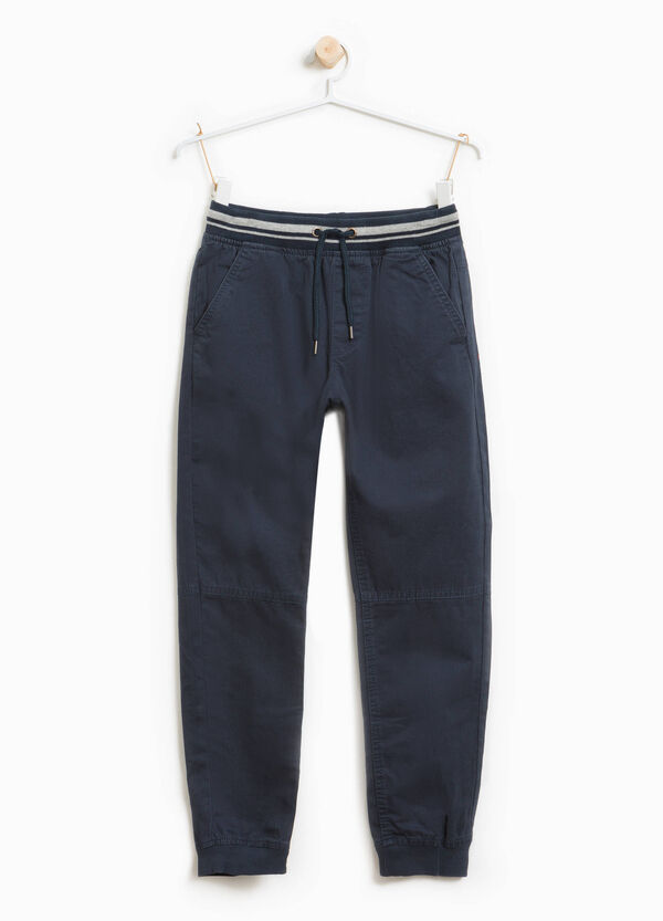 100% cotton joggers with drawstring | OVS
