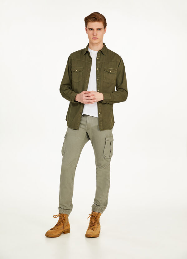 Cargo trousers with zips on ankles