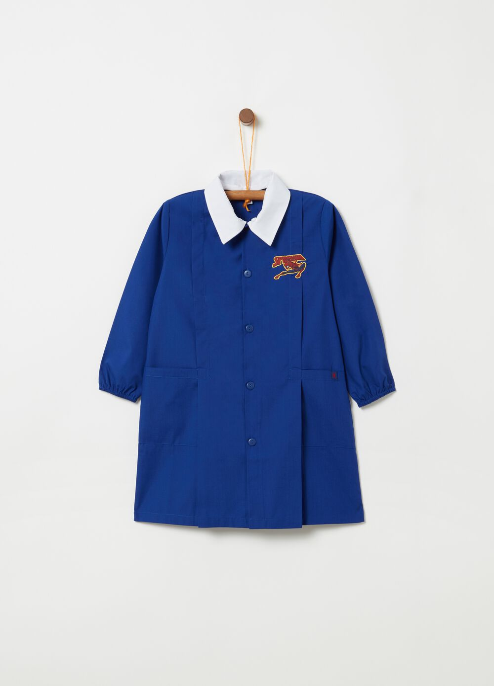 School smock with Spider-Man print