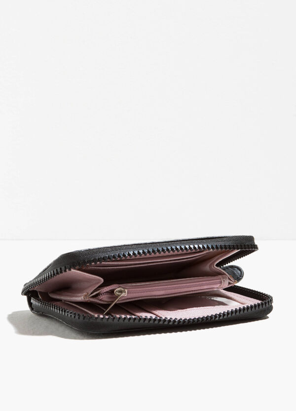 Solid colour textured-effect purse | OVS