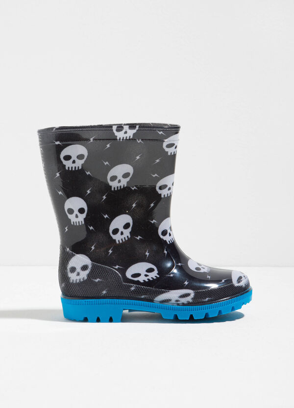 Skull patterned rain boots | OVS