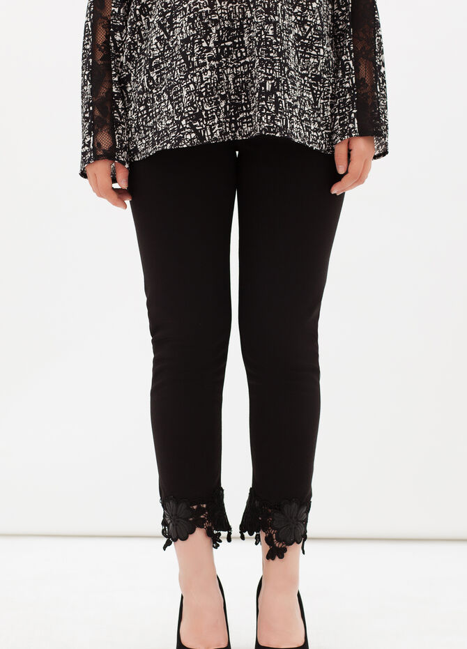 Curvyglam stretch leggings with lace