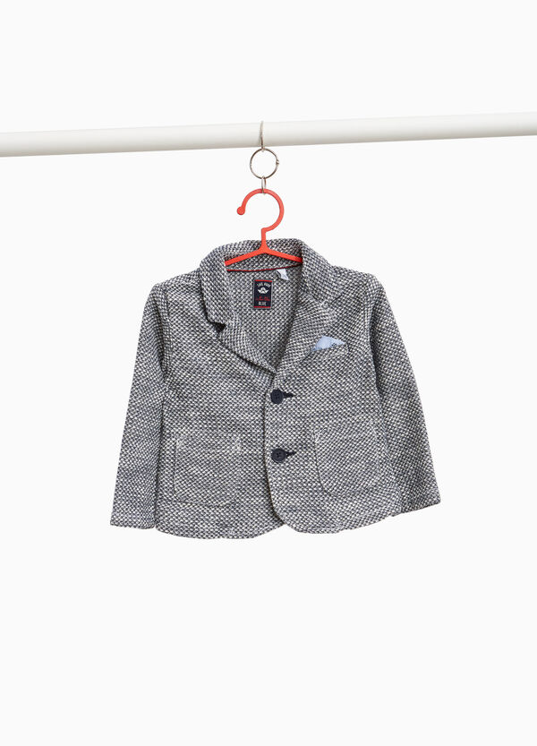 Mélange blazer with two buttons