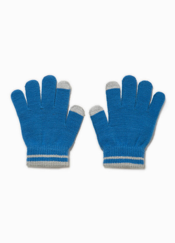 Solid colour gloves for touch screen | OVS