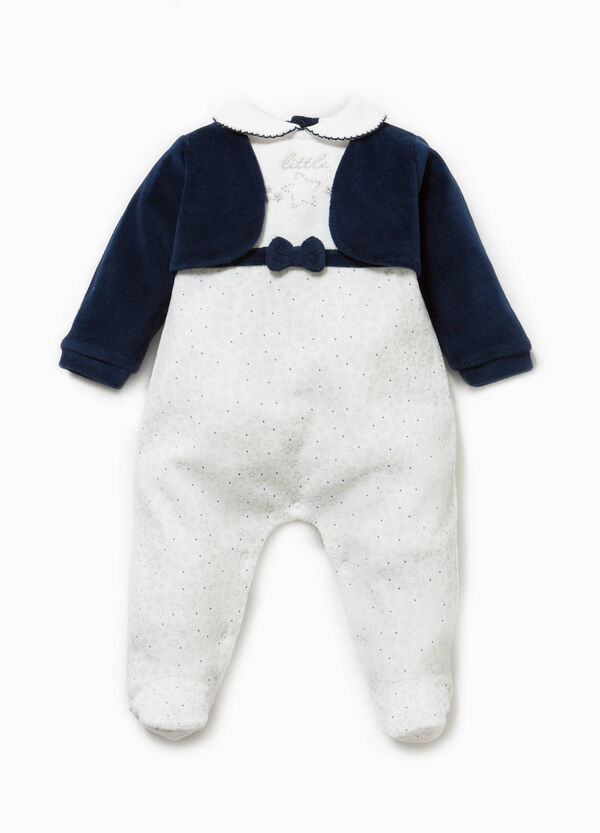 Star and diamanté pattern onesie in cotton | OVS