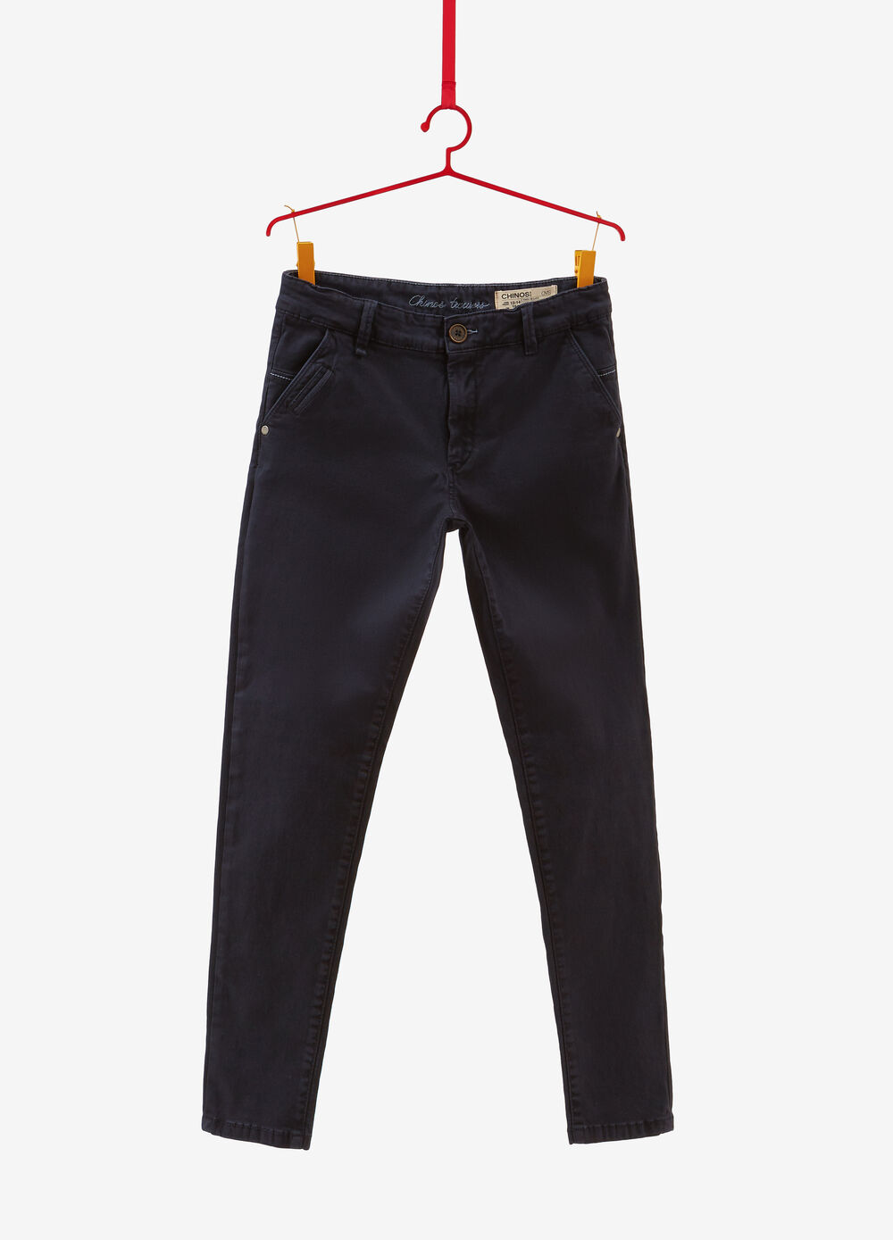 Stretch cotton cargo-cut chinos