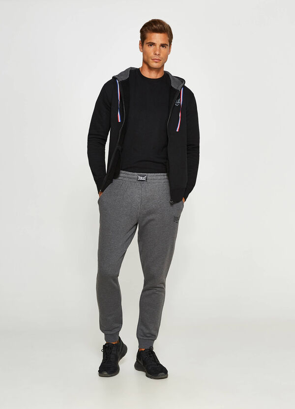 Joggers with print and Everlast patch