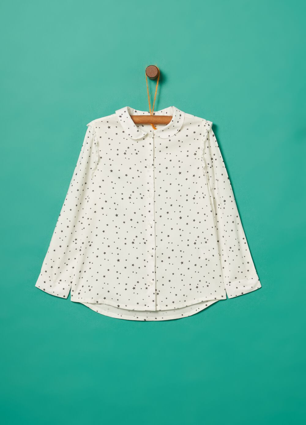 Shirt in 100% viscose with small stars print