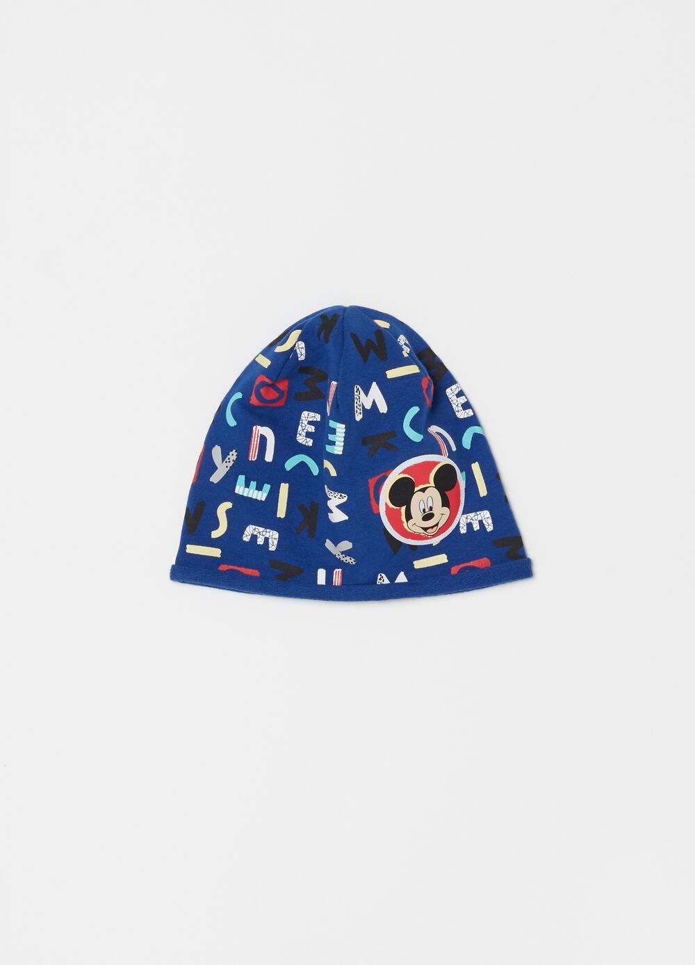 Jersey hat with Disney Mickey Mouse print
