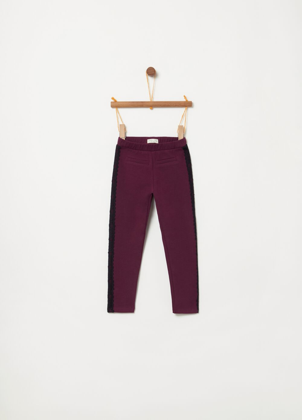 Stretch cotton treggings with pockets