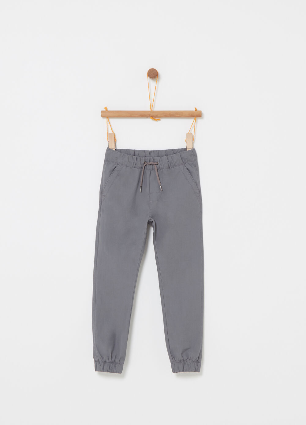 Pantalone in popeline con coulisse