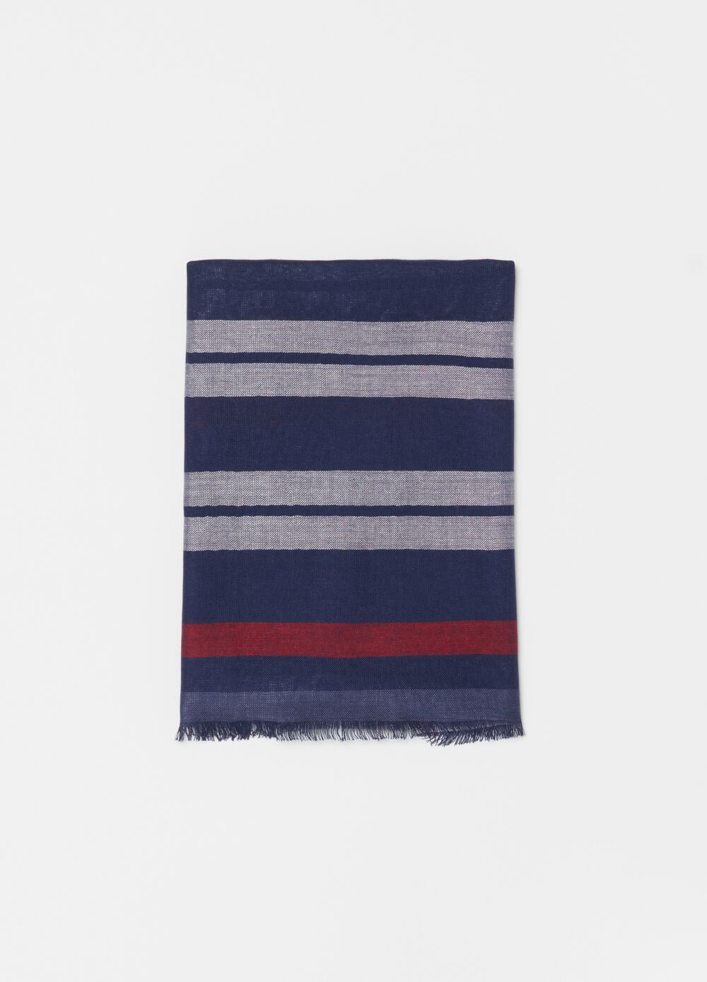 Striped pashmina in 100% viscose