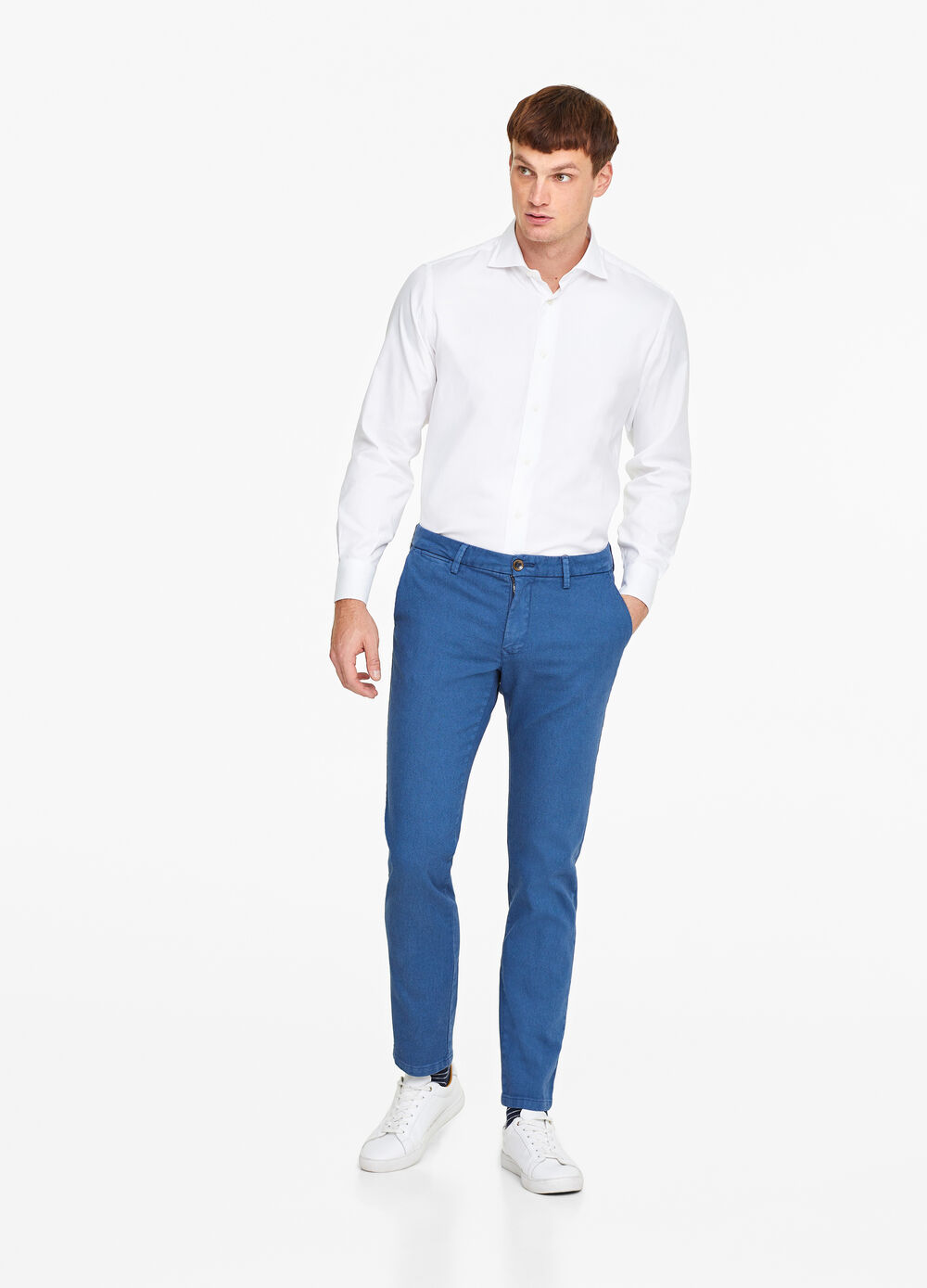 Slim fit, stretch chino trousers