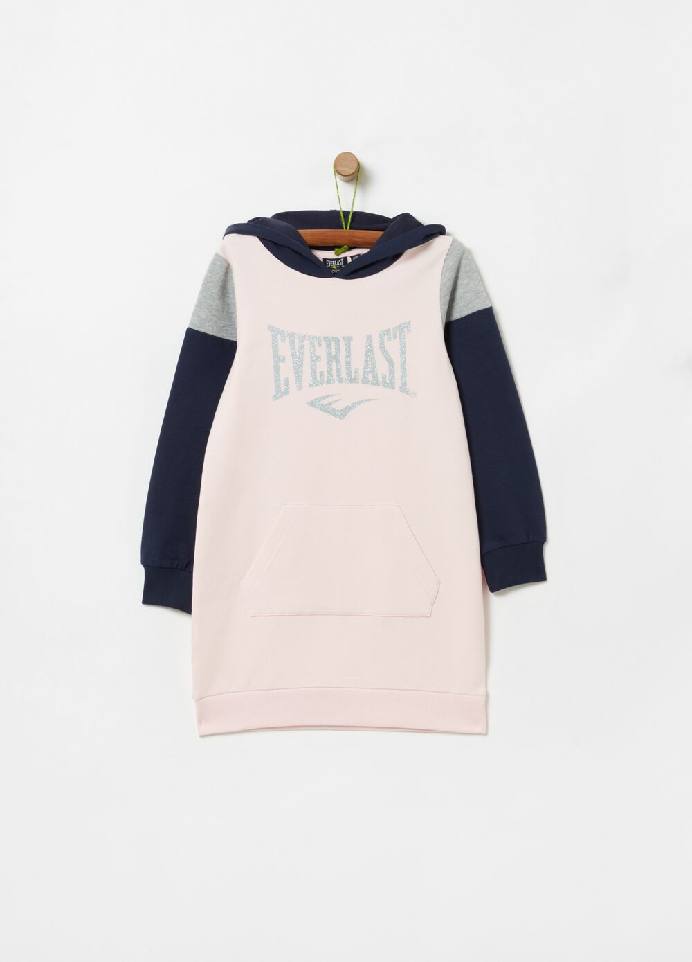 Two-tone dress with Everlast print