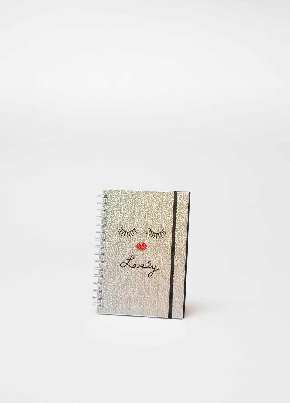Notebook with lettering print