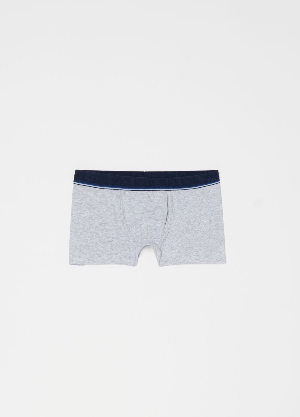 Mélange boxer shorts in stretch organic cotton