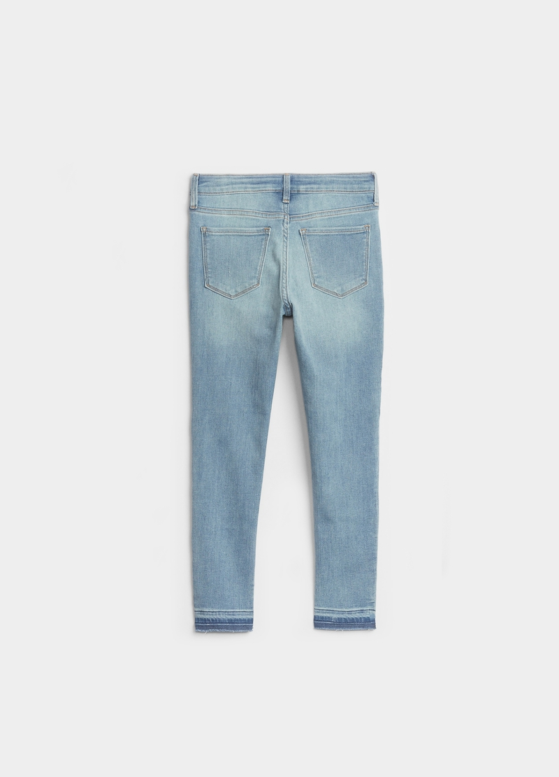 GAP ankle-fit jeggings with rips image number null