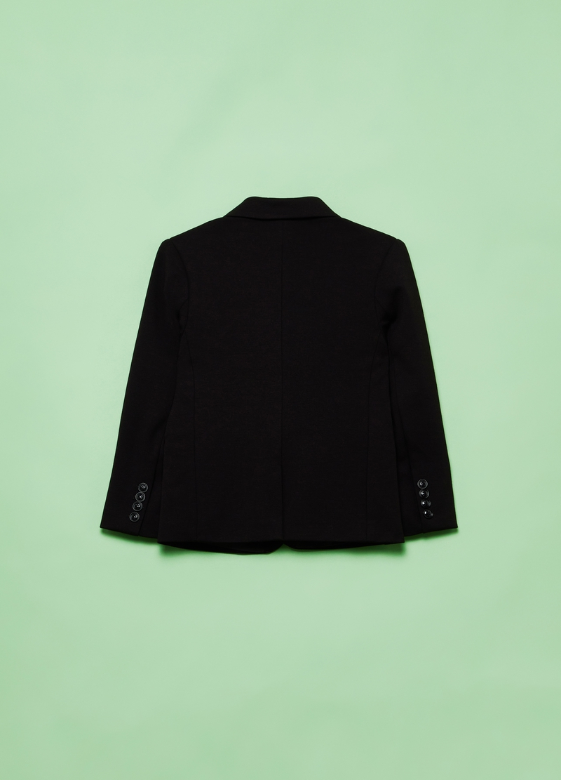 Stretch viscose blend jacket with lapels image number null
