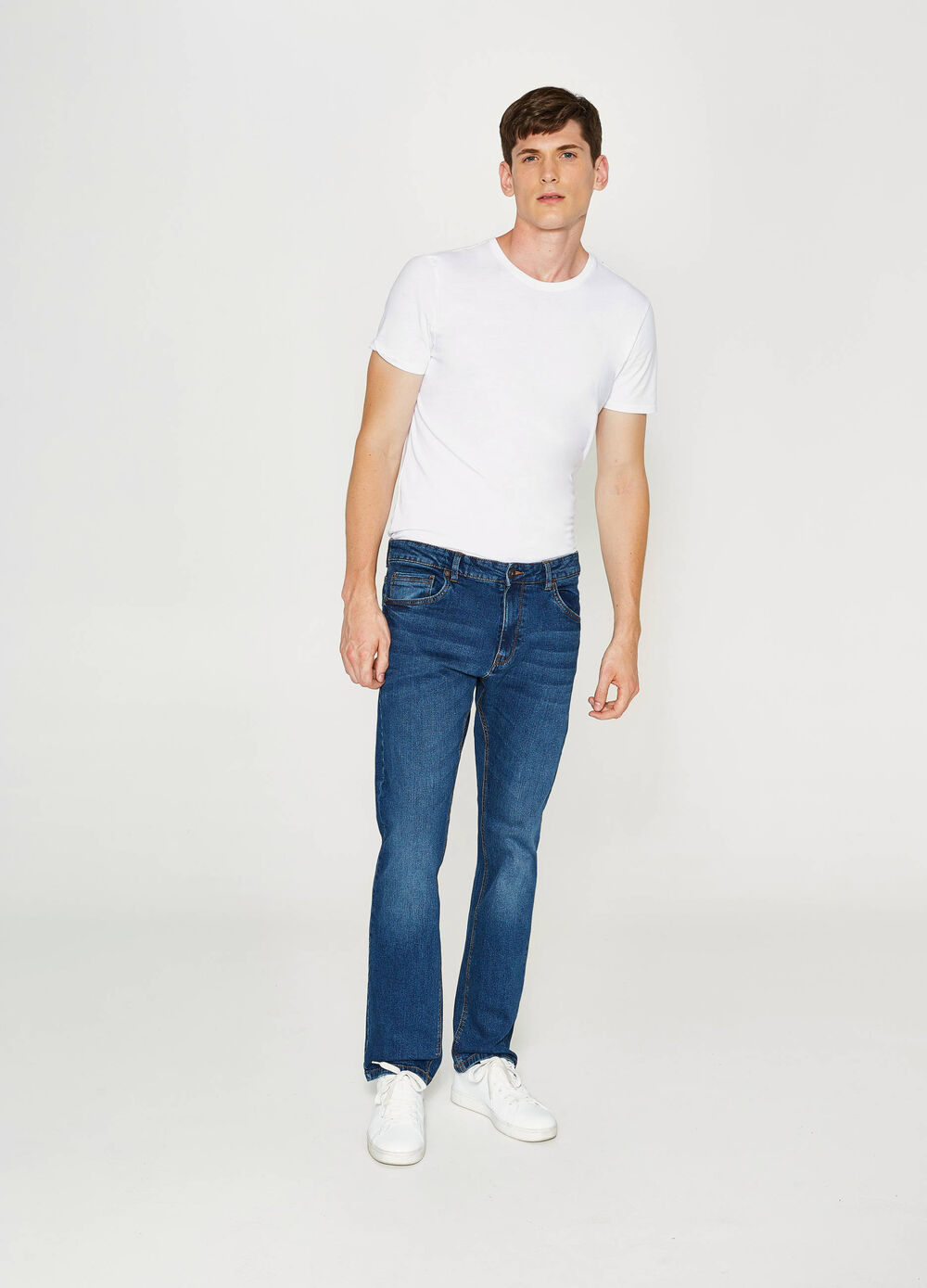 Jeans comfort fit stretch effetto used