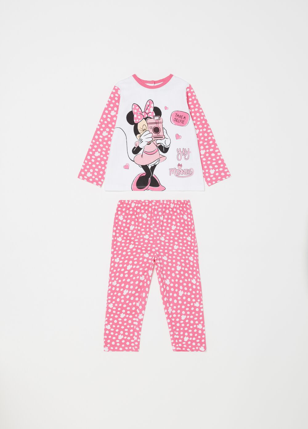 100% cotton pyjamas with Minnie Mouse pattern