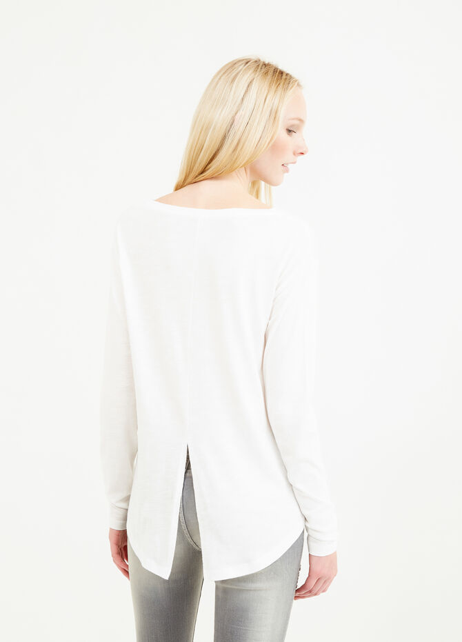 Printed T-shirt with rounded hem
