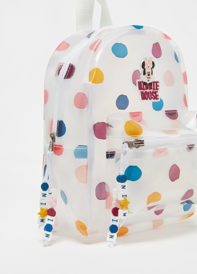 Disney Minnie Mouse polka dot backpack image number null