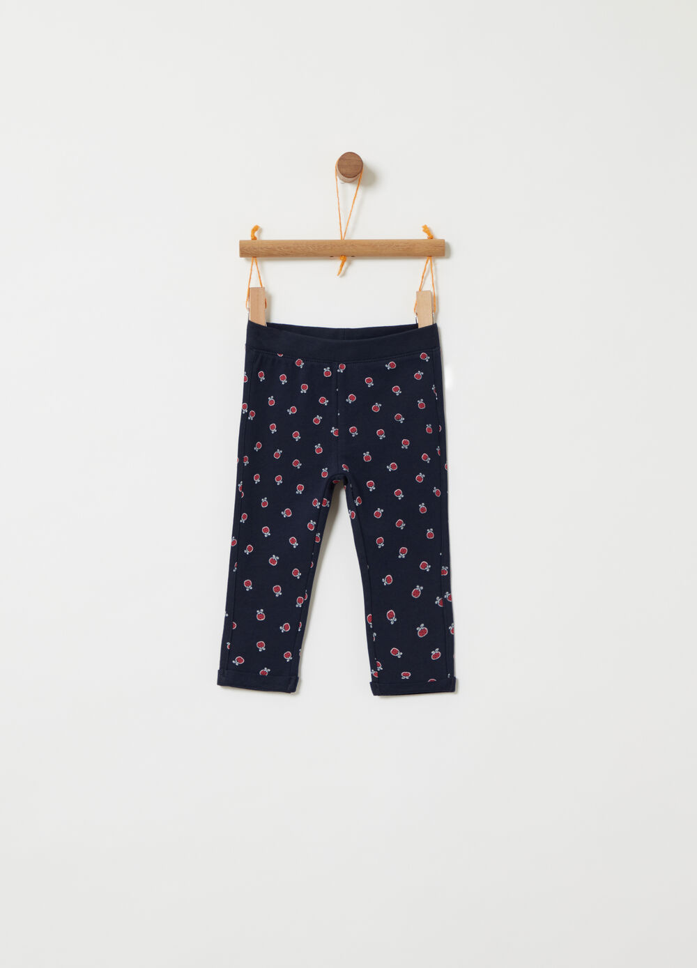 BCI fleece trousers with ladybird pattern