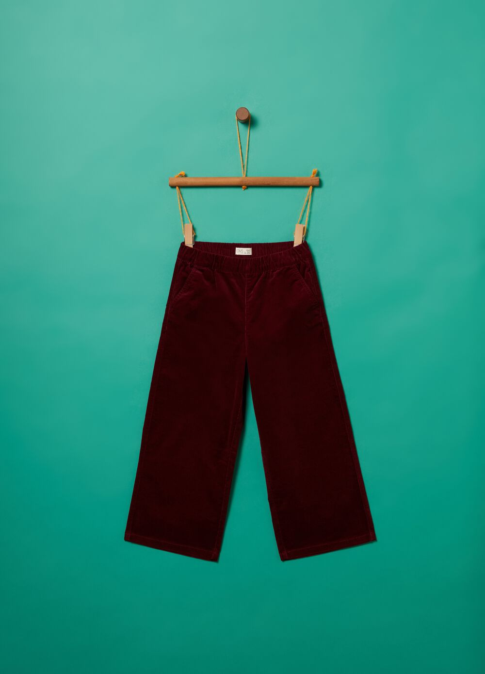 Crop trousers in stretch cotton