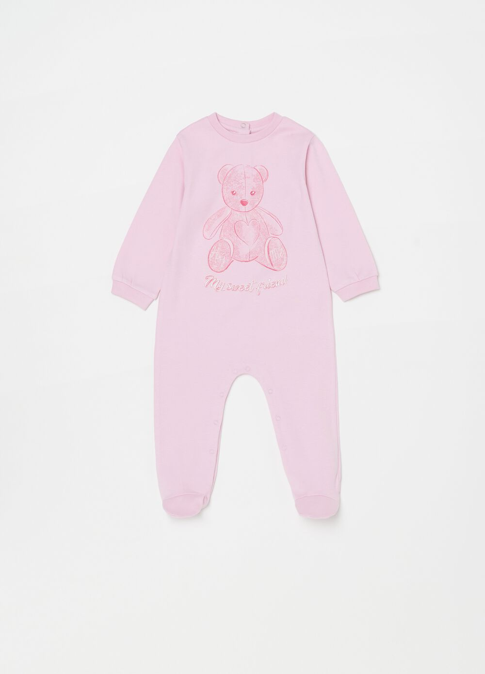 100% organic cotton onesie with feet
