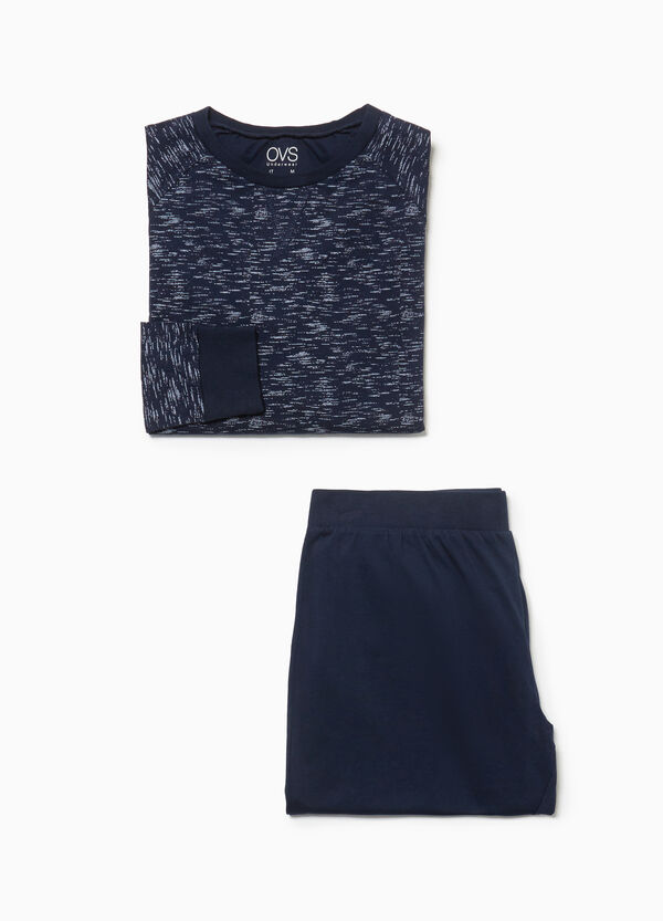 100% cotton pyjamas with solid colour and mélange