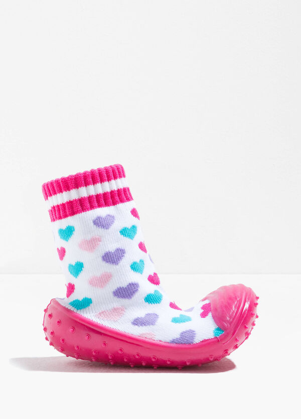 Heart pattern slipper socks | OVS
