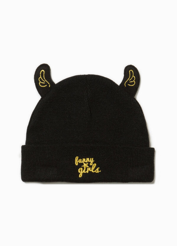 Beanie cap with ears and embroidery | OVS