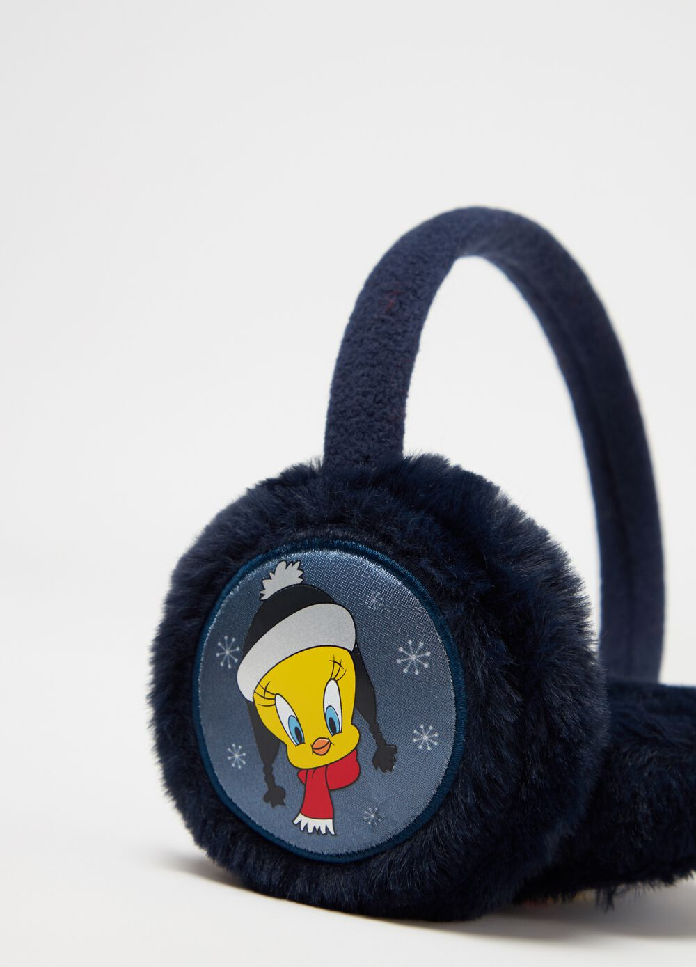 Earmuffs with Warner Bros Tweetie Pie embroidery