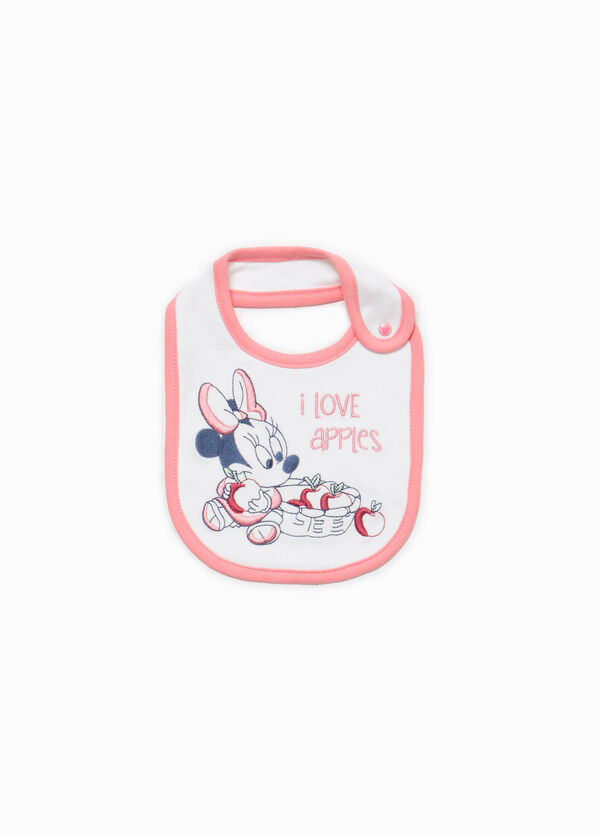 Baby Minnie Mouse bib in 100% cotton | OVS