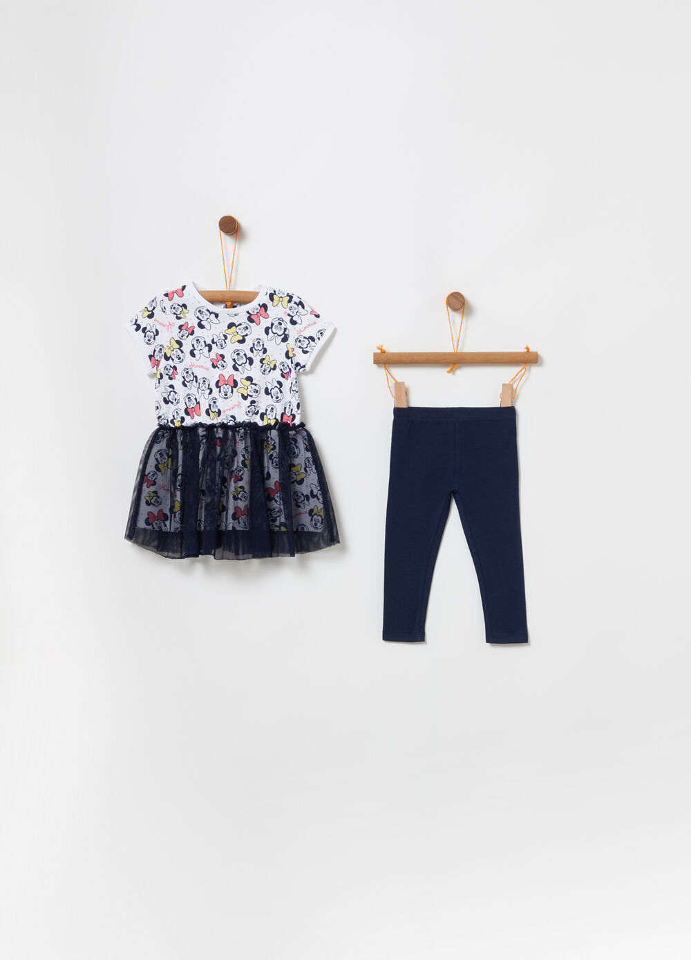 Dress and legging set with Disney Baby tulle