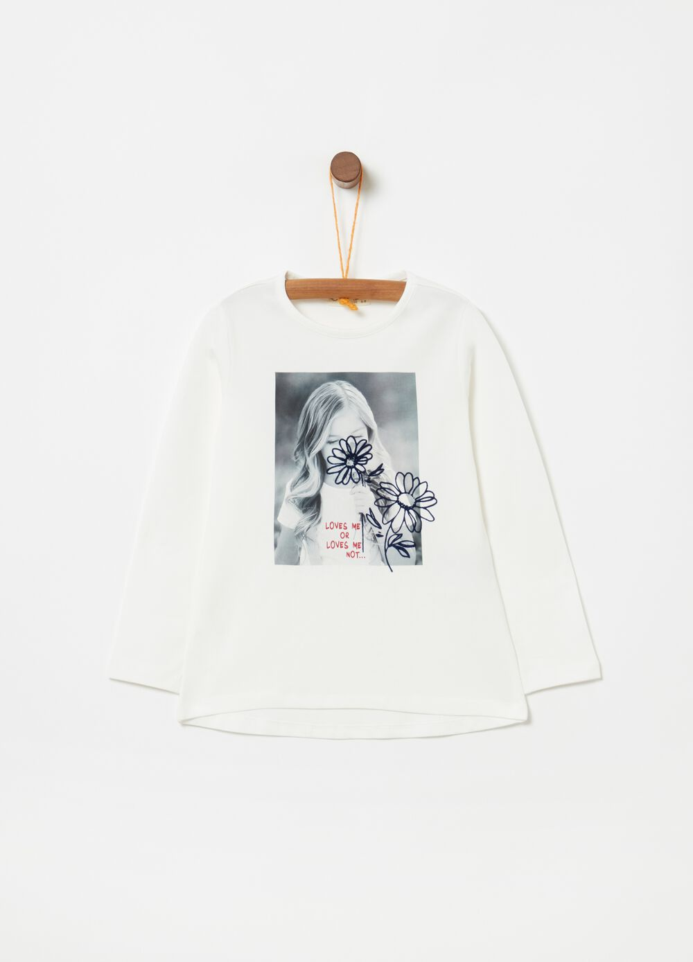 Stretch biocotton T-shirt with photo print