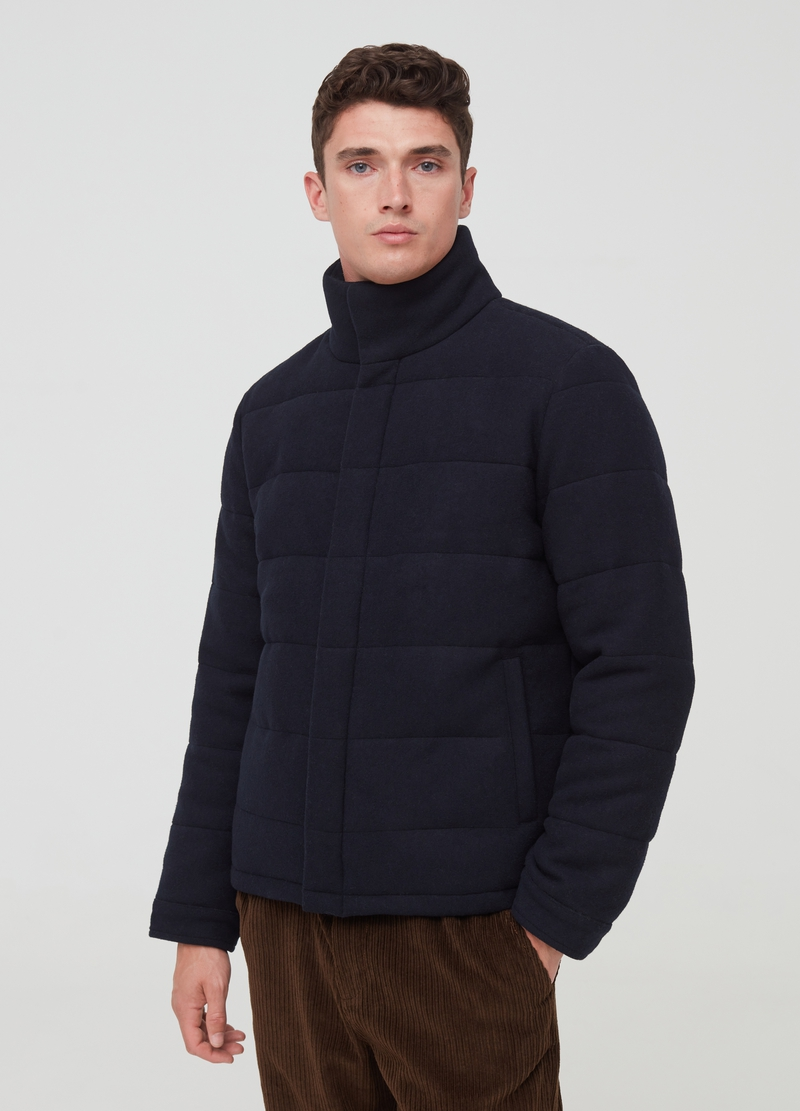 PIOMBO padded jacket in wool blend image number null