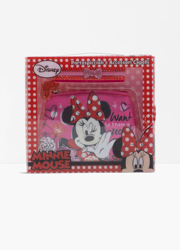 Minnie Mouse case and three hair elastics set | OVS
