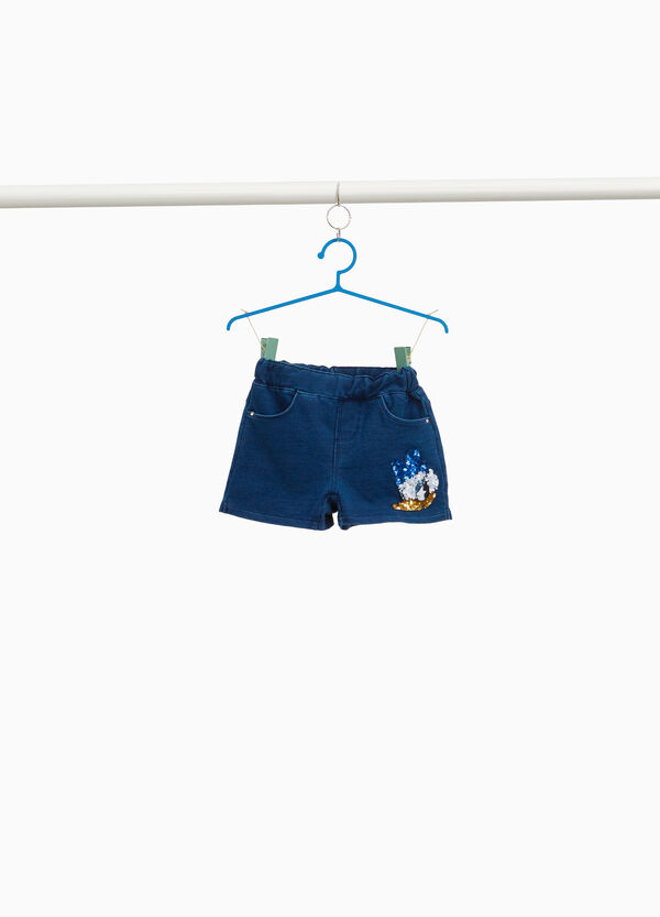 Daisy Duck denim shorts with sequins