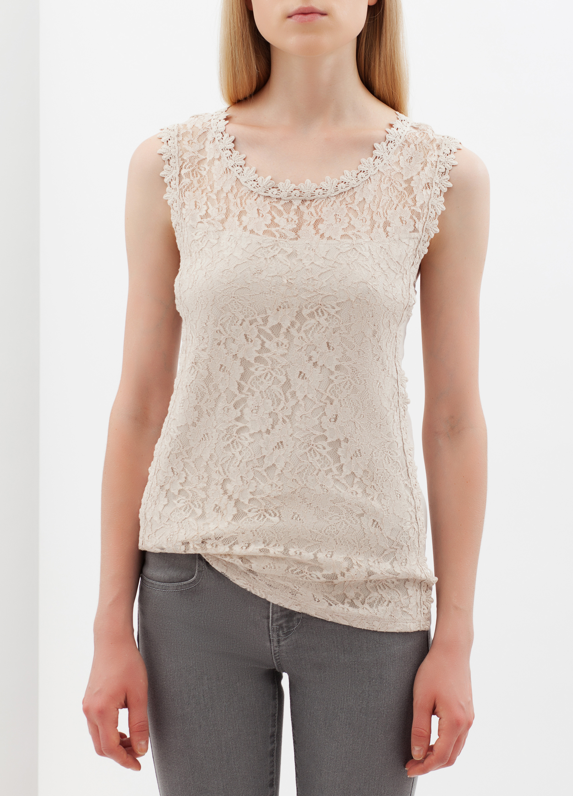 7e3499664912a Sleeveless lace top