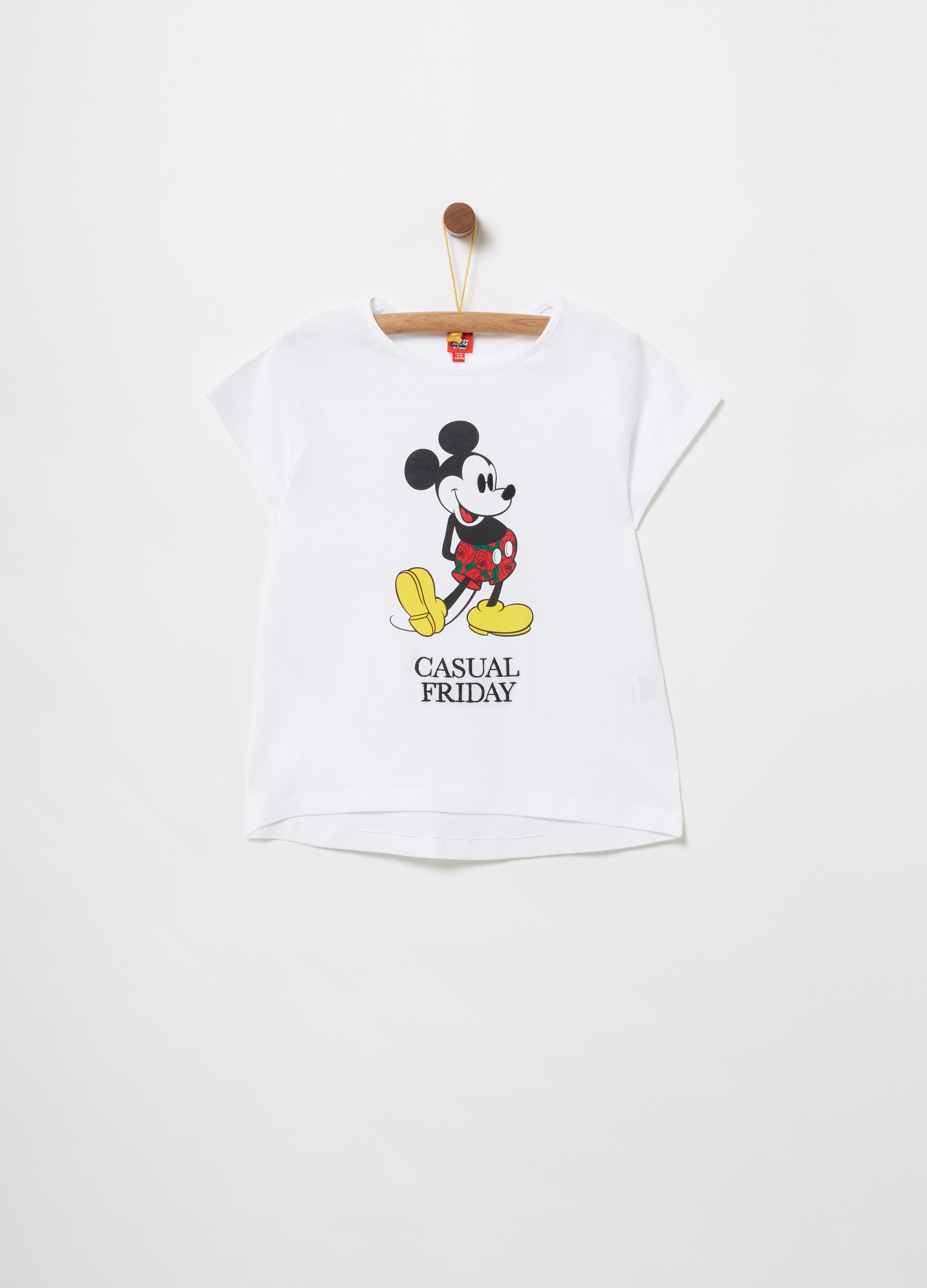 a66a9161f T-shirt with Disney Mickey Mouse print and embroidery | OVS