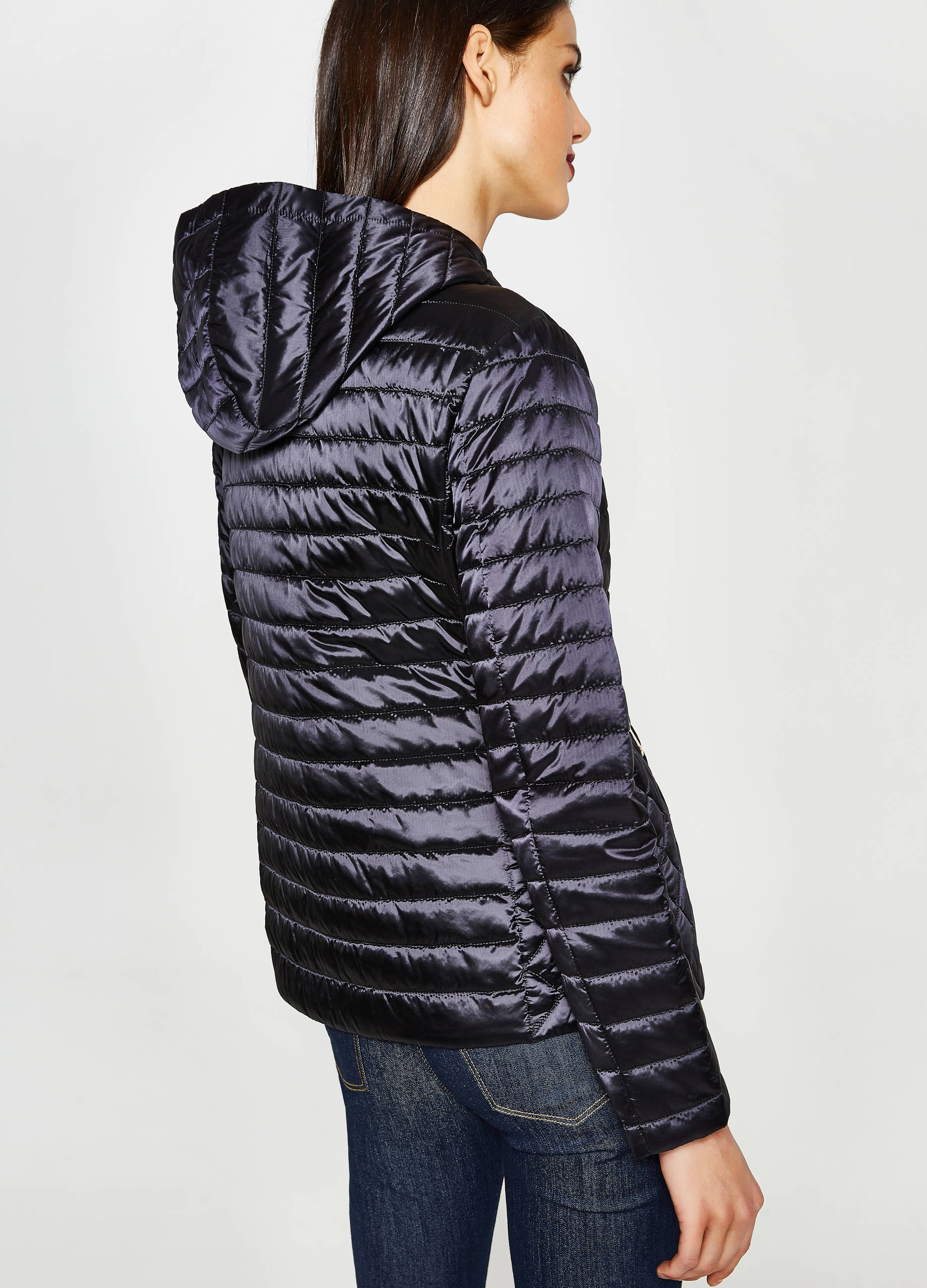 new products 64c21 ea4df Shiny down jacket with hood | OVS