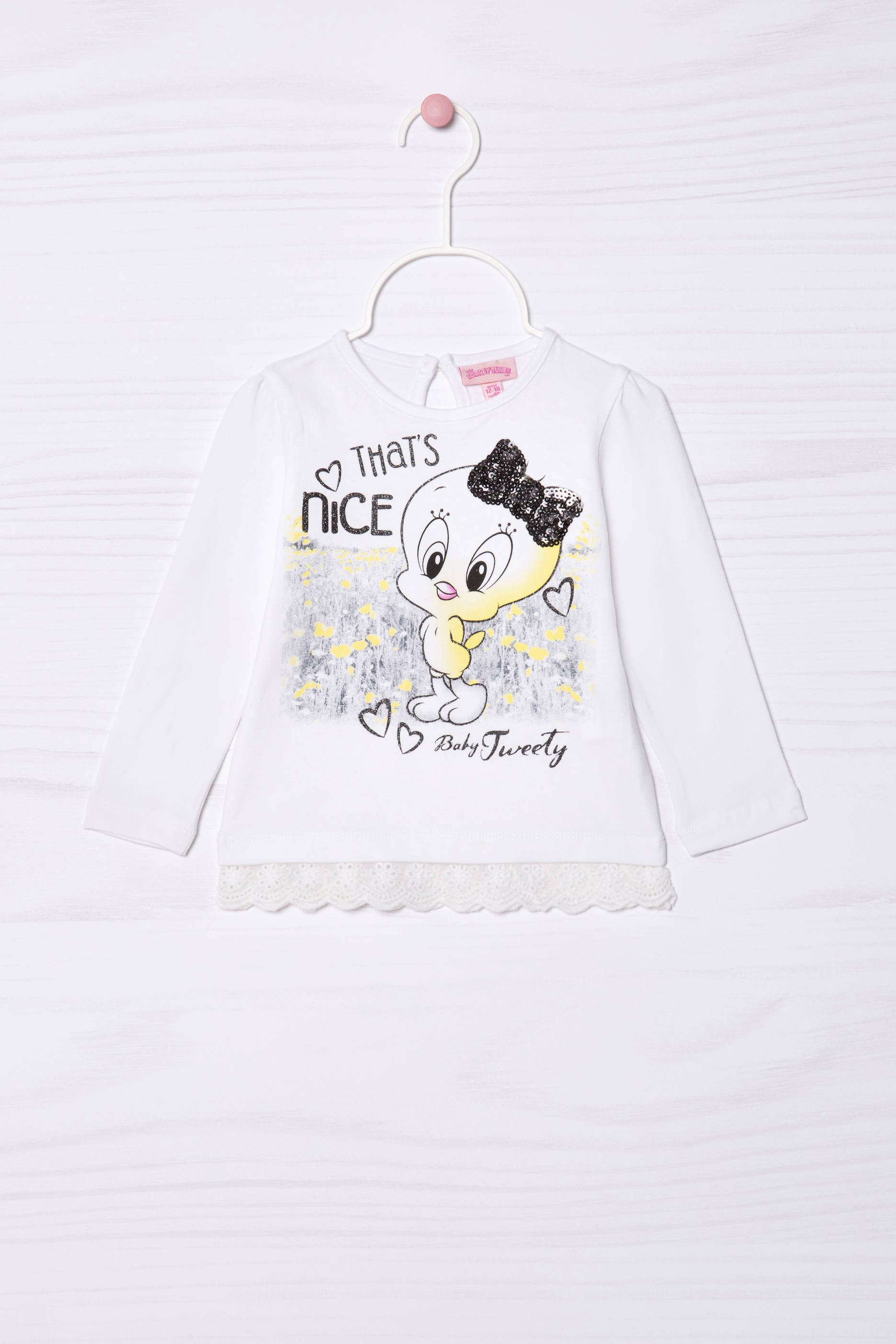 a1f87dd78ba T-shirt in stretch cotton with Tweetie Pie print | OVS