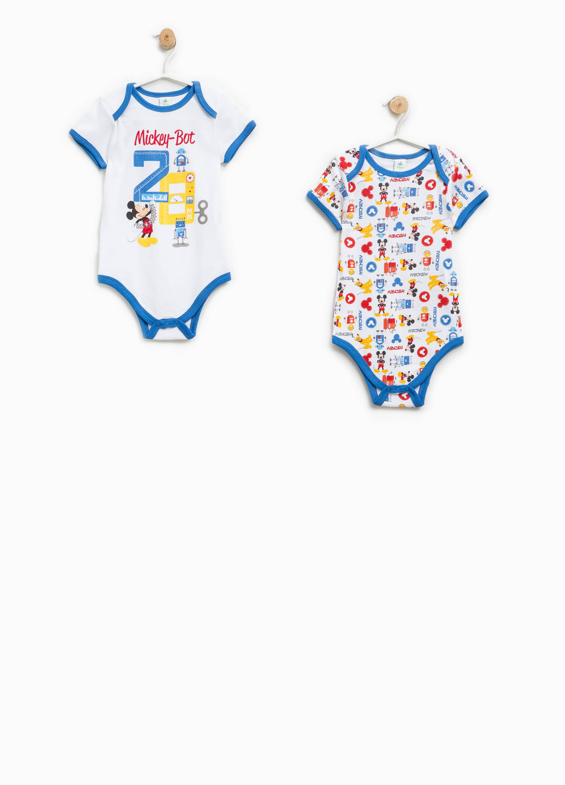 7388ed9db Two-pack Mickey Mouse Robot bodysuits