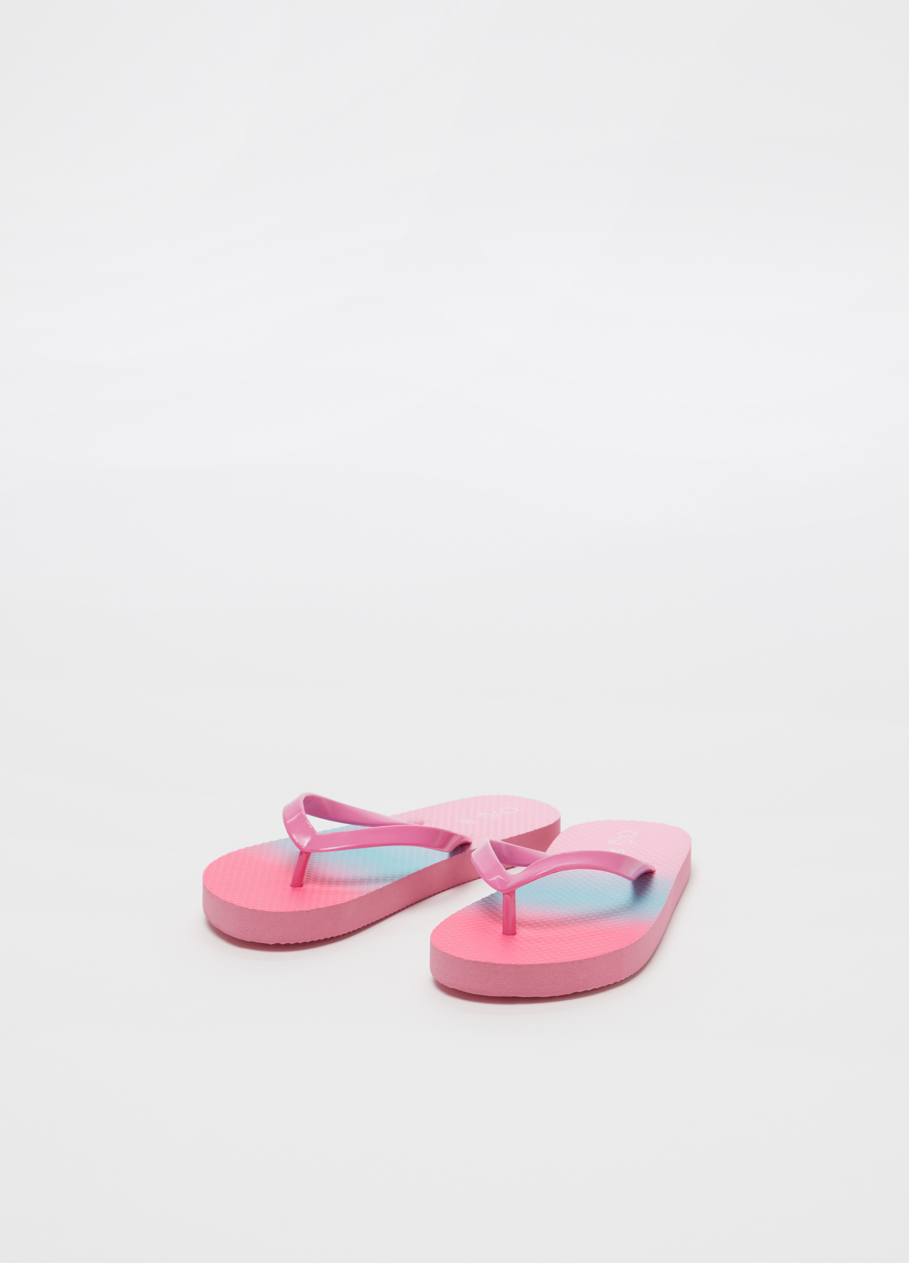 Thong Faded Sandals Two Tone With EffectOvs 1lFKJc