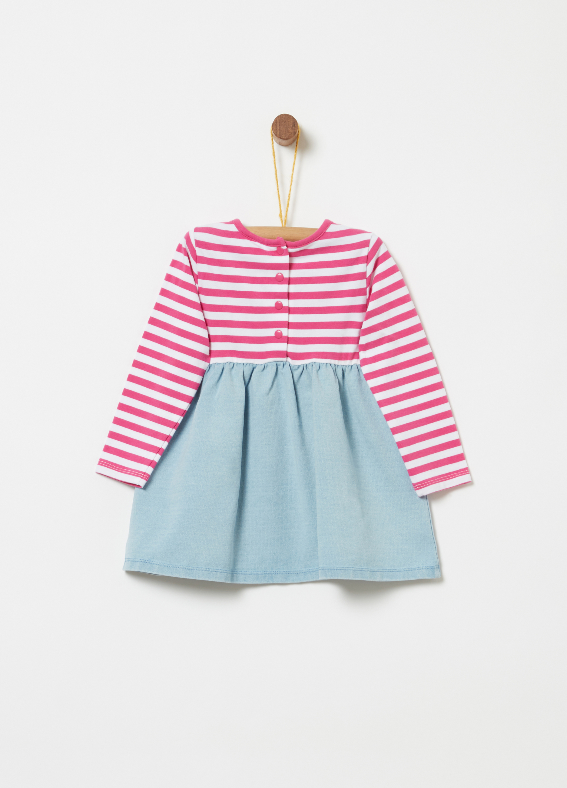 d4ce2fc8f1 Dress with striped top and denim skirt | OVS