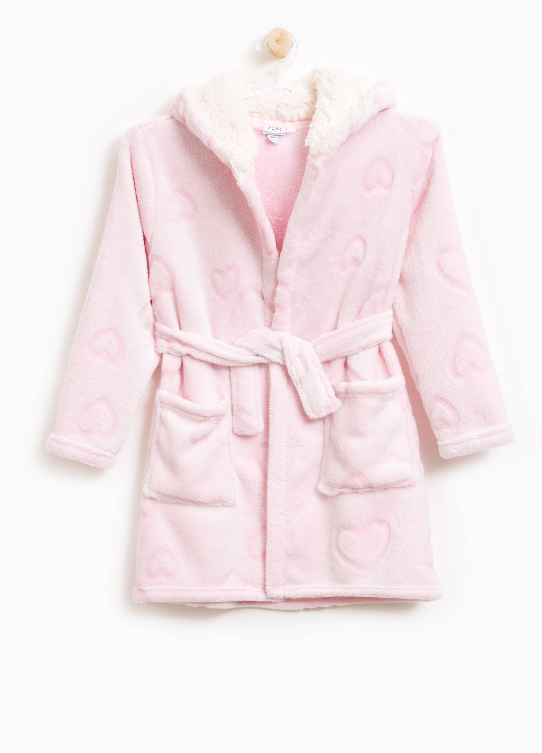 f6864443e8 Dressing gown with hood in faux fur