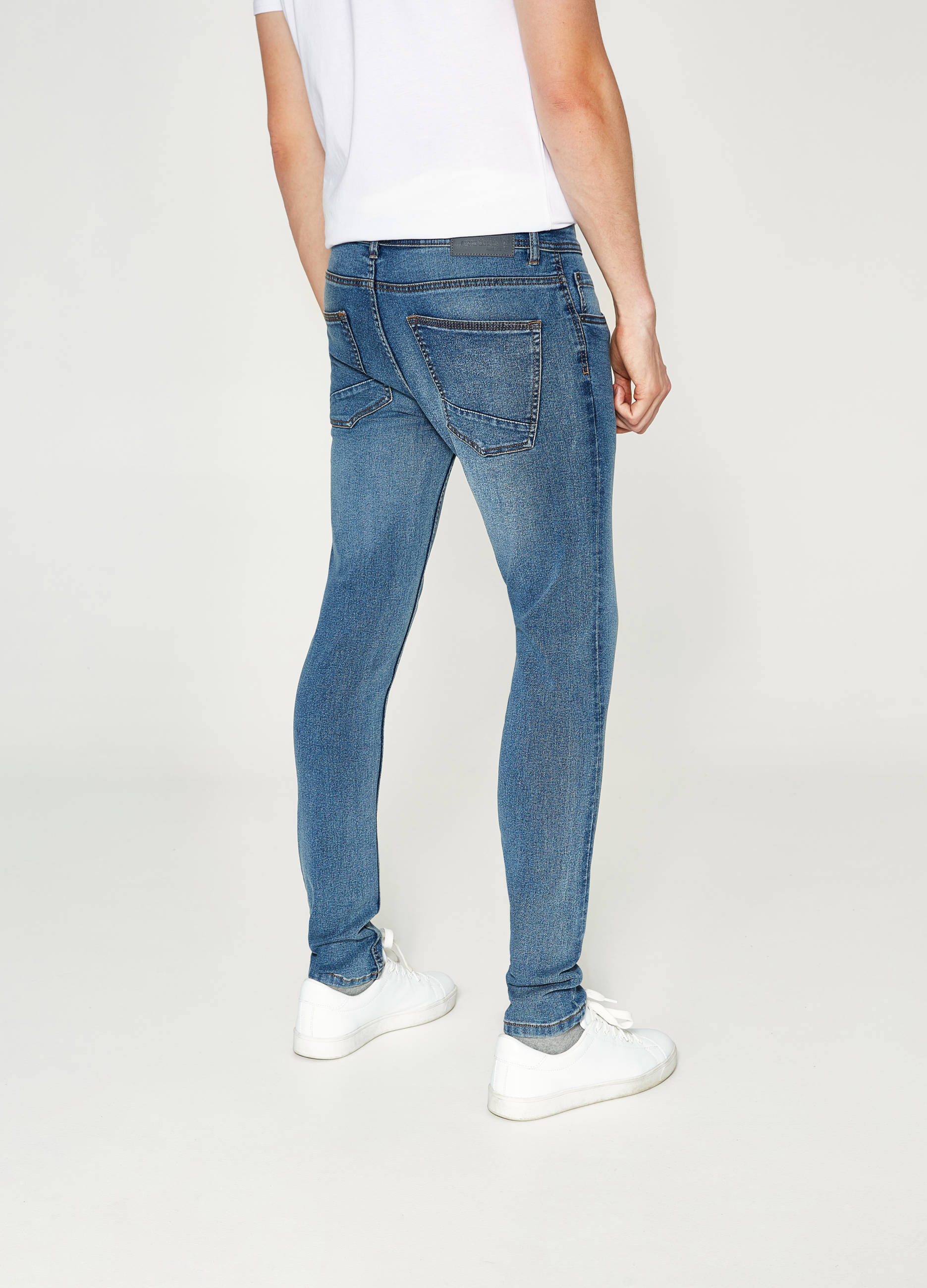 tout neuf 1d5c7 11b76 Super-skinny-fit faded-effect stretch jeans