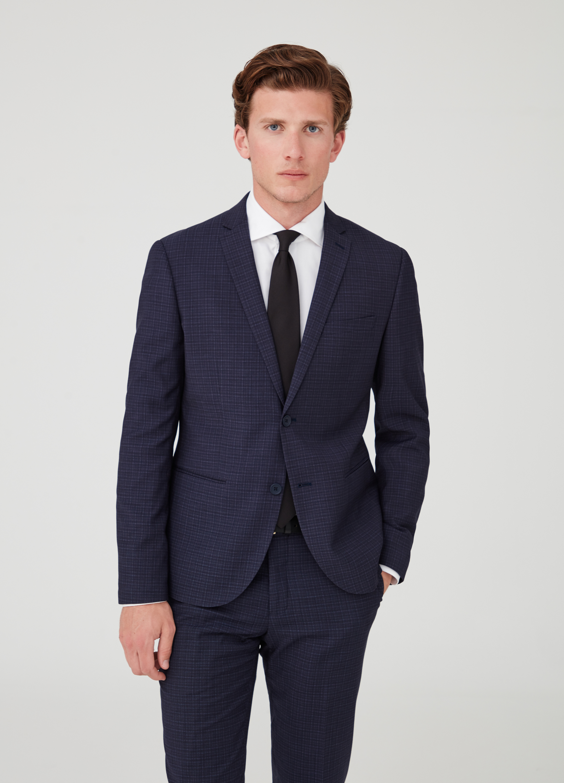 2e12e79fb Two-button suit jacket with check pockets | OVS