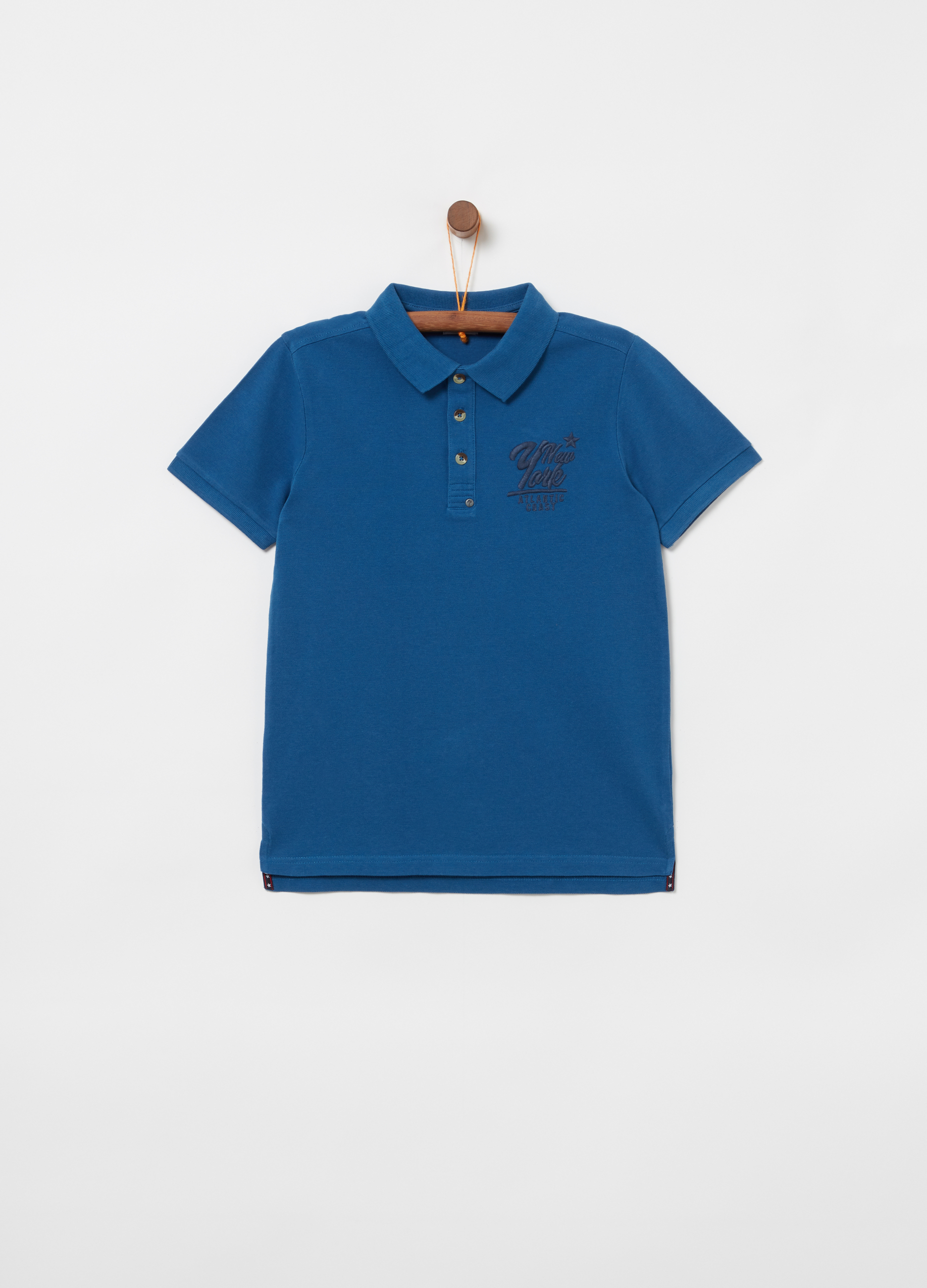 929bc85b Piquet polo shirt with embroidery over the heart | OVS